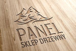 Panel logo drewno